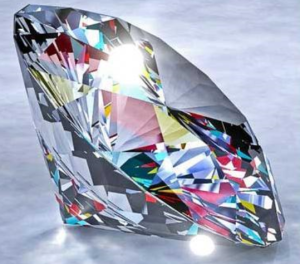 the April gemstone is Diamond
